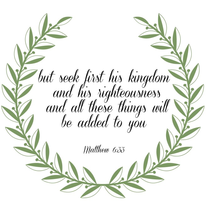 seek forst his kingdom