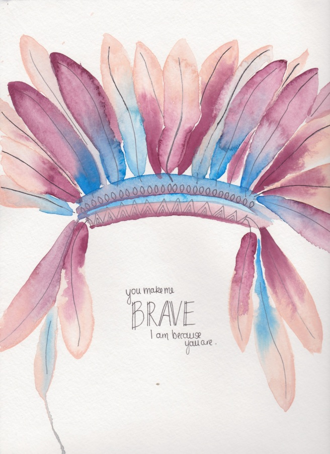 you make me brave art