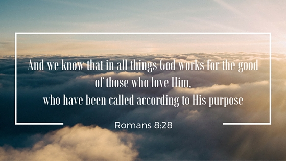 """Image result for Romans 8:28~ """"And we know that in all things God works for the good of those who love him, who have been called according to his purpose."""